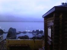 屈斜路湖のコタン温泉での無料の混浴露天風呂の画像