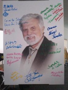 キネシオロジー世界大会の講演者のサインボード