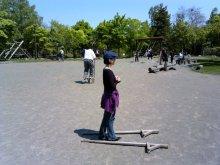 北海道で、竹馬とブレインジム画像3